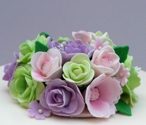 sugar flowers - cake topper