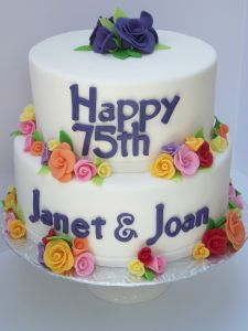 75th birthday cake for twins